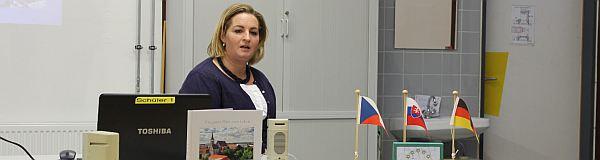 Eine Gastlehrerin aus der Slowakei war im Dezember 2017 zu  Besuch an unserer Schule